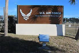 Cape Canaveral Air Force Station Sign